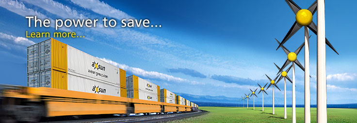 AXSUN has the power to save on transportation costs using intermodal freight shipping...learn more