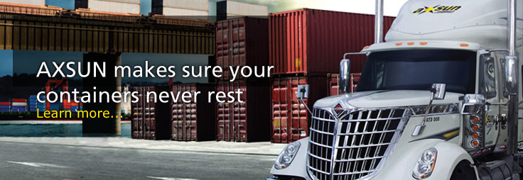 AXSUN transportation makes sure your freight shipping containers never rest. Learn more...